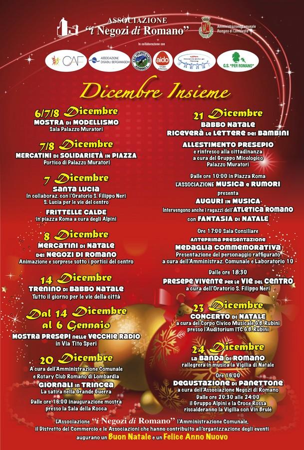 Menu Di Natale Romano.Concerti Presepi E Vigilia Di Natale Bassa Bergamasca