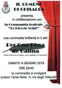 "GHISALBA, Commedia ""Per ona pèna de galina"" @ Area Feste | Ghisalba | Lombardia | Italia"