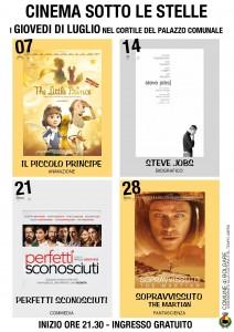 Bolgare, cinema sotto le stelle @ Cortile palazzo comunale di Bolgare