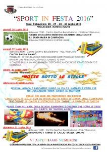 Torre Pallavicina, Sport in festa 2016 @ Centro sportivo Bocciodromo, fraz. Villanova | Villanuova | Lombardia | Italia