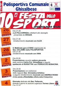 Ghisalba, 10° Festa dello Sport @ Ghisalba, Area Feste | Ghisalba | Lombardia | Italia