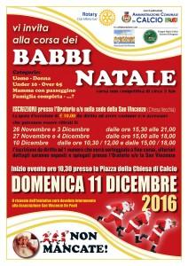 Calcio, corsa dei Babbi Natale 2016 @ Piazza della Chiesa