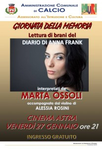 Calcio, lettura di brani dal diario di Anna Frank @ Cinema Astra