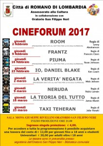 Romano, Cineforum @ Oratorio San Filippo Neri
