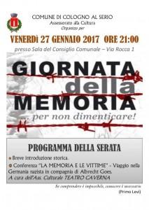 Cologno al Serio, giornata della memoria @ Sala del Consiglio Comunale   Cologno Al Serio   Lombardia   Italia