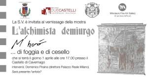 """Cavernago, mostra """"L'alchimista demiurgo: M'Horo', di Foggia e di Cesello"""" @ Castello di Cavernago"""