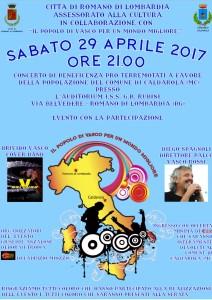 Romano, concerto di beneficenza @ Auditorium Ist. G. B. Rubini | Romano di Lombardia | Lombardia | Italia