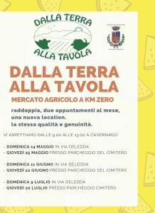 """Cavernago, mercato """"Dalla Terra alla Tavola"""" @ Via Deledda e parcheggio del cimitero"""