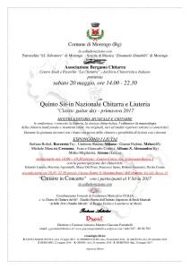 Morengo, V sit-in Nazionale Chitarra e Liuteria