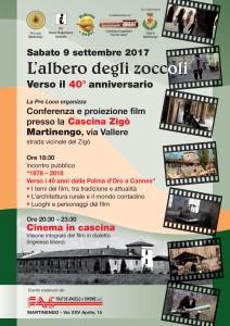 Martinengo, L'albero degli zoccoli verso il 40° anniversario: conferenza e proiezione del film @ Cascina Zigò | Martinengo | Lombardia | Italia