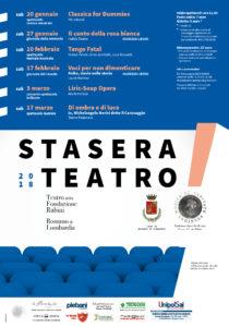 Romano di Lombardia, Stasera teatro! @ Teatro della Fondazione Rubini | Romano di Lombardia | Lombardia | Italia