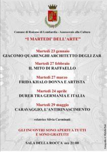 Romano di Lombardia, I martedì dell'arte @ Sala della Rocca | Romano di Lombardia | Lombardia | Italia