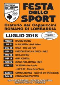 Romano di Lombardia, Festa dello sport @ Oratorio dei Cappucini di Romano