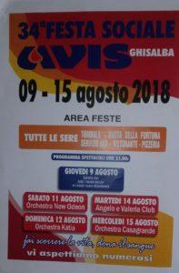 Ghisalba, 34°esima Festa Sociale AVIS @ Area feste Ghisalba