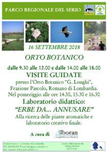 Romano di Lombardia, visite guidate e laboratori didattici all'Orto Botanico G. Longhi @ Orto Botanico, Romano di Lombardia