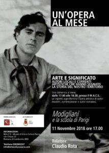 """Romano M.A.C.S., """"Modigliani e la scuola di Parigi"""" @ Macs, Romano di Lombardia   Romano di Lombardia   Lombardia   Italia"""