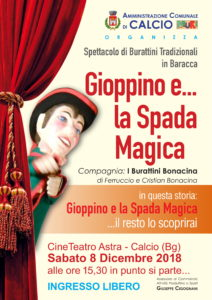 """Calcio, """"Gioppino e...la Spada Magica"""" @ CineTeatro Astra, Calcio"""