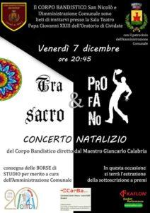 """Cividate al Piano, Concerto natalizio """"Tra sacro e profano"""" @ Sala Teatro Papa Giovanni XXIII, Cividate al Piano"""