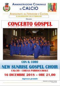 """Calcio, Concerto gospel con il coro """"New Sunrise Gospel Choir"""" @ Chiesa Parrocchiale, Calcio"""