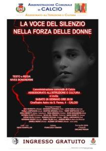 """Calcio, """"La voce del silenzio nella forza delle donne"""" @ CineTeatro Astra, Calcio"""
