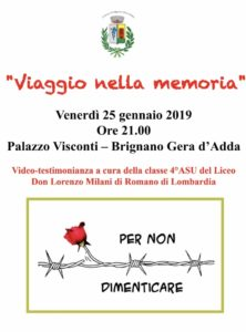 """Brignano Gera d'Adda, """"Viaggio nella memoria"""" @ Palazzo Visconti di Brignano Gera D'Adda"""