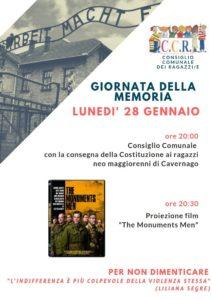 Cavernago, Giornata della Memoria @ Comune di Cavernago