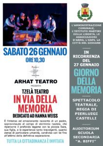 """Cividate al Piano, """"In via della Memoria"""" @ Auditorium Scuola Secondaria """"A.Biffi"""""""