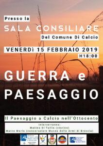 """Calcio, """"Guerra e paesaggio nell'Ottocento"""" @ Sala Consiliare del Comune di Calcio"""