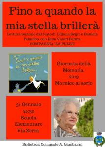 """Mornico al Serio, Lettura teatrale """"Fino a quando la mia stella brillerà"""" @ Scuola Elementare"""