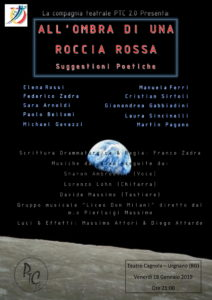 """Urgnano, """"All'ombra di una roccia rossa"""" Suggestioni Poetiche @ Teatro Cagnola, Urgnano"""