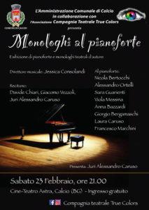 """Calcio, """"Monologhi al Pianoforte"""" @ Cinema Astra, Calcio"""