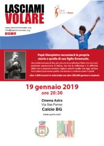 """Calcio, """"Lasciami volare"""" @ Cinema Astra, Calcio"""