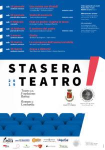 """Romano di Lombardia, """"Stasera Teatro! (Stagione 2019)"""" @ Teatro della Fondazione Rubini"""