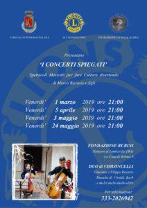 """Romano di Lombradia, """"I concerti spiegati"""" @ Fondazione Rubini, Romano di Lombradia"""