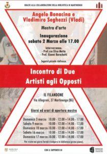 """Martinengo, Mostra """"Incontro di due artisti agli opposti"""" @ Filandone, Martinengo"""
