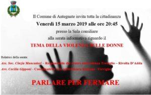 """Antegnate,""""tema della violenza sulle donne"""" @ Comune di Antegnate (BG)"""
