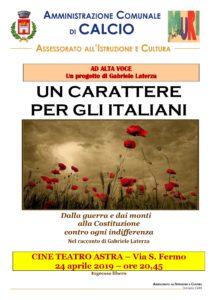 """Calcio, progetto """"ad alta voce, un carattere per gli italiani"""" @ Calcio"""