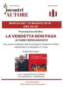 """Martinengo, presentazione libro """"La vendetta non paga"""" @ Sala Consiliare del Filandone"""