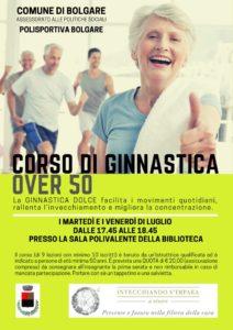 """Bolgare, """"Corso di ginnastica over 50"""" @ Sala Polivalente della Biblioteca"""