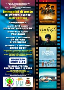 """Romano di Lombardia, Cinema all'aperto """"Immagini di notte di mezza estate"""" @ Piazza Riccardo Manetta"""