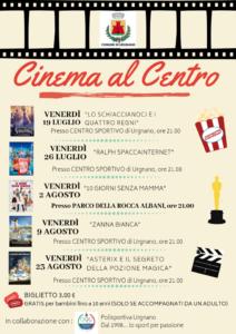 """Urgnano, """"Cinema al centro"""" @ Centro Sportivo e Parco della Rocca Albani"""