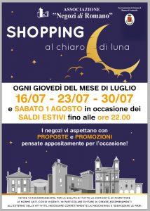 """Romano di Lombardia, """"Shopping al chiaro di luna"""""""