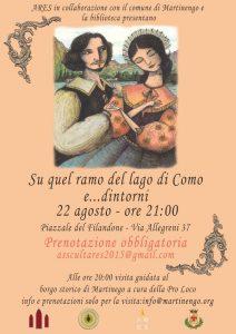 """Visita guidata serale + lettura teatrale """"Su quel Ramo del lago di Como e... dintorni"""" @ Martinengo"""